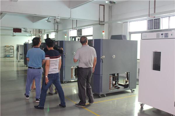 深圳客户来厂考察并洽谈恒温恒湿试验箱合作